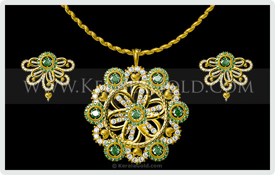 Kerala gold jewellery design pendant 9 jewellery design pendant 9 mozeypictures Image collections