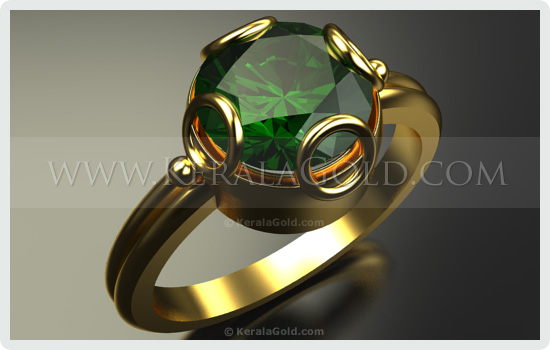 Kerala Gold Jewellery Design Ring 8