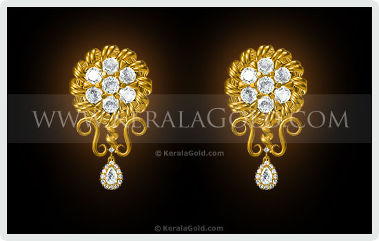 Kerala Gold Jewellery Design Earring 15