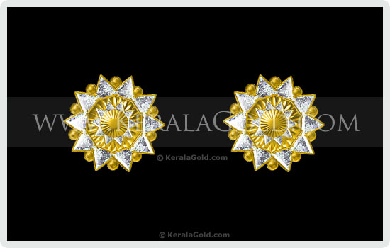 Kerala Gold Jewellery Design Earring 4