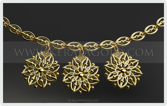 Kerala Gold Jewellery Design Necklace 17